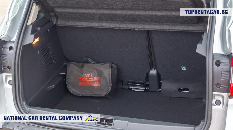 Renault Captur - багажник
