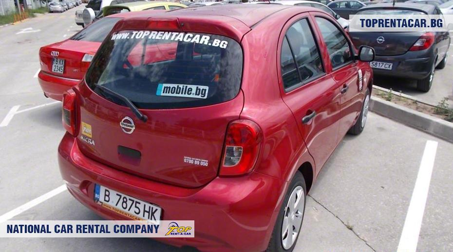 Nissan Micra - вид сзади