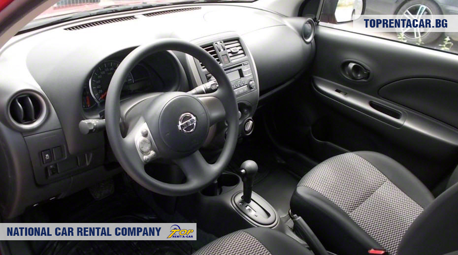 Nissan Micra  - вид изнутри