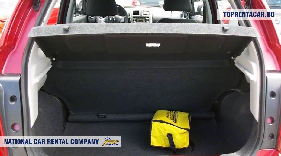 Nissan Micra - багажник