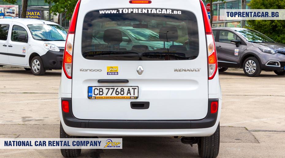 Renault Kangoo - вид сзади
