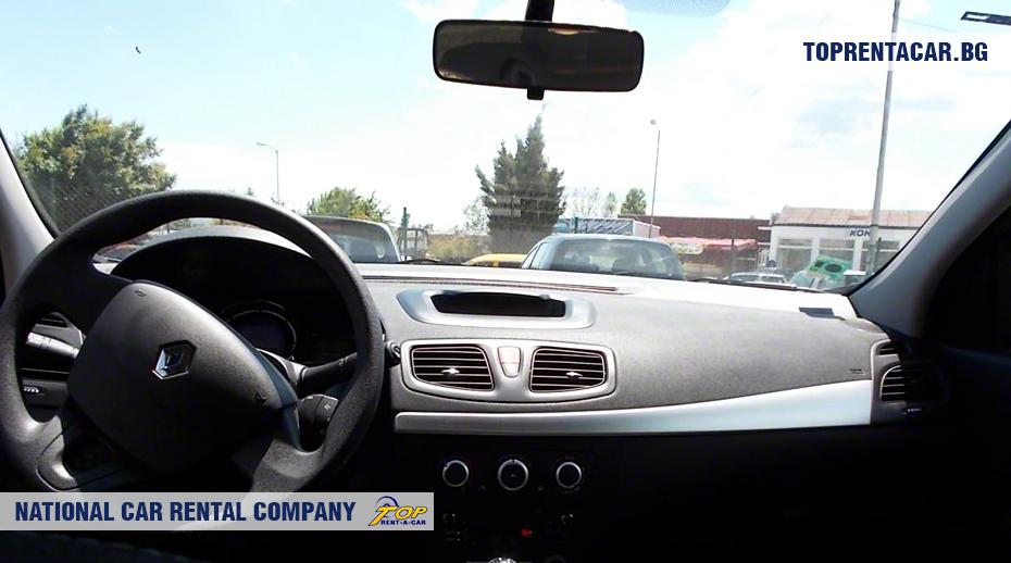 Renault Fluence - вид изнутри