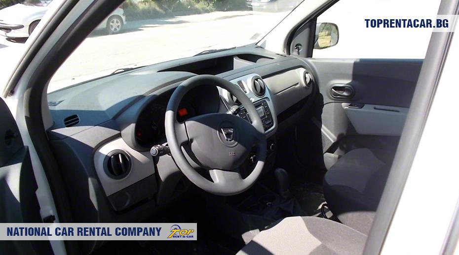 Dacia Dokker - вид изнутри
