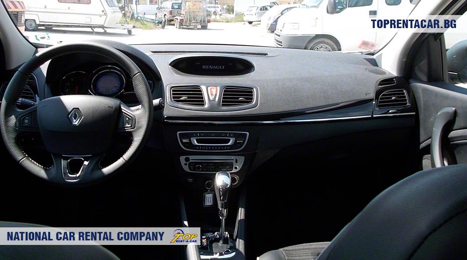 Renault Fluence с АКПП - вид изнутри
