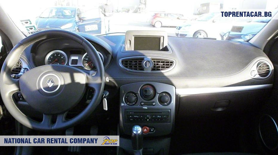 Renault Clio III - вид изнутри