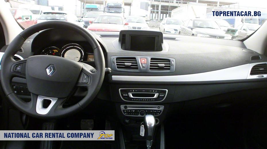 Renault Megane - вид изнутри