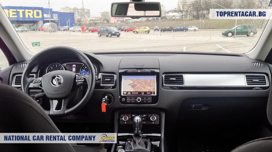 VW Touareg - вид изнутри