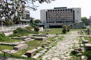 Раскопки в центре города