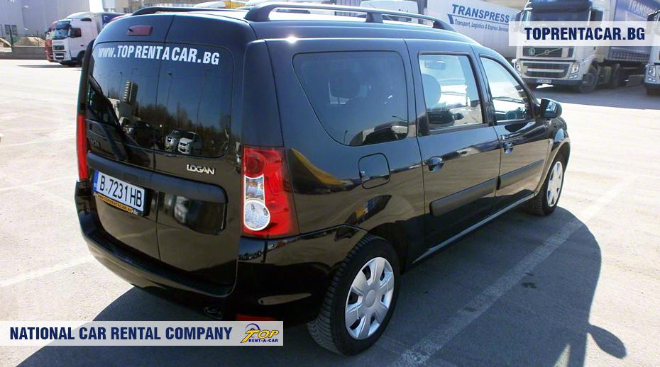 Dacia MCV - вид сзади