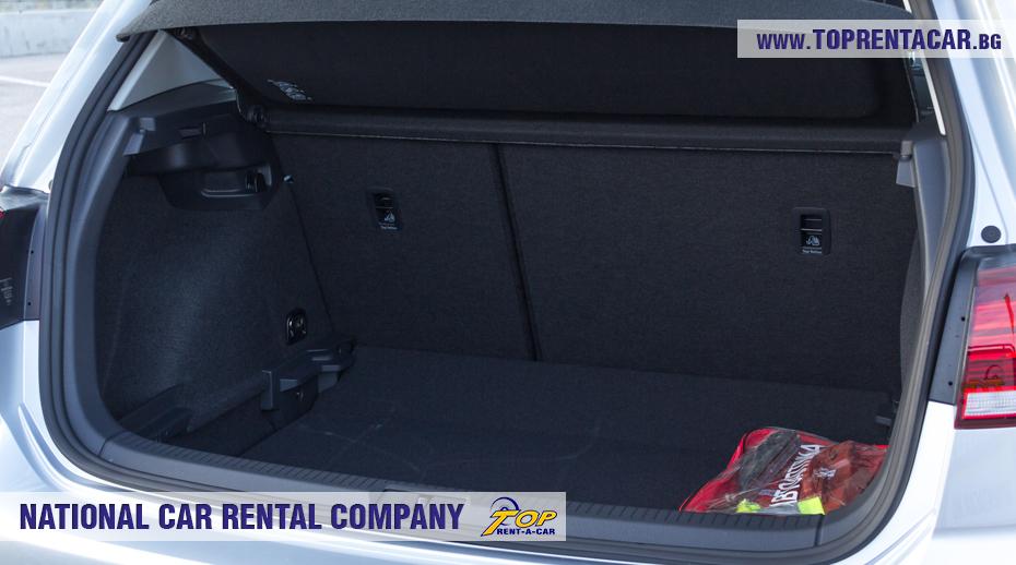 VW Golf - багажник