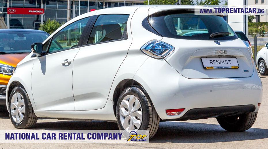 Renault Zoe - позади