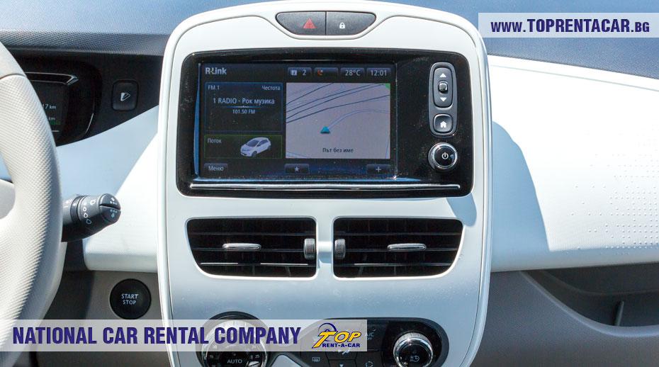 Renault Zoe - навигатор