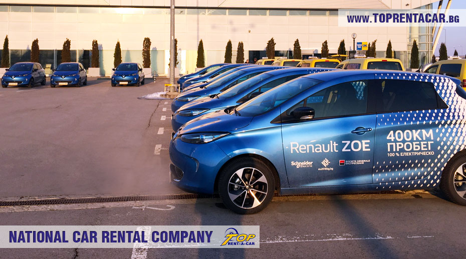 Renault Zoe на прокат от Top Rent A Car