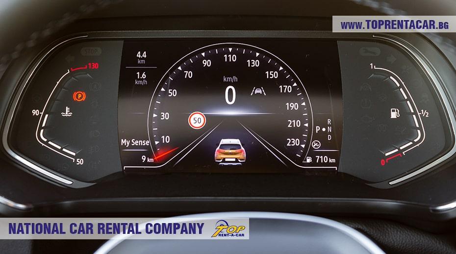 Renault Captur 2021 автоматическая цифровая панель приборов
