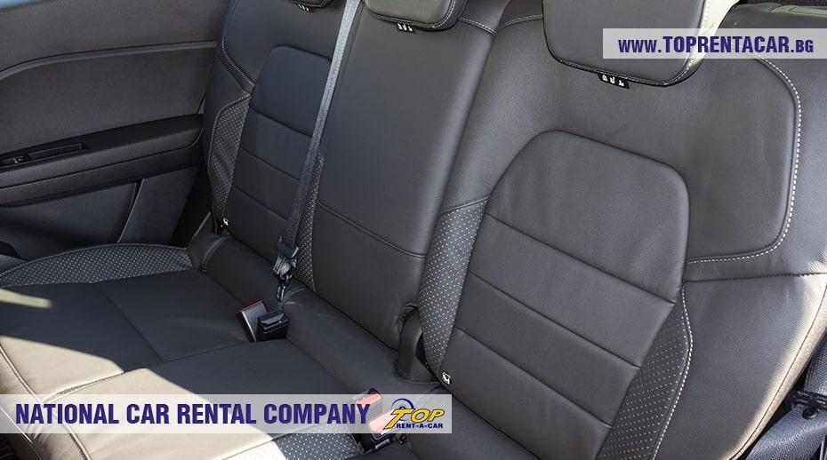 Renault Captur задние сиденья