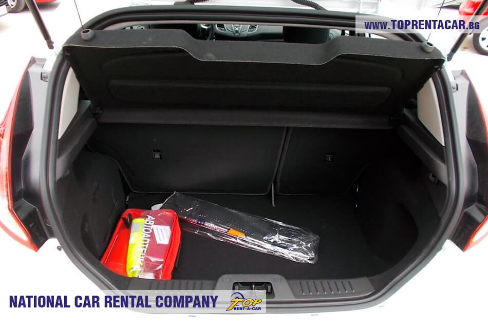Ford Fiesta - багажник