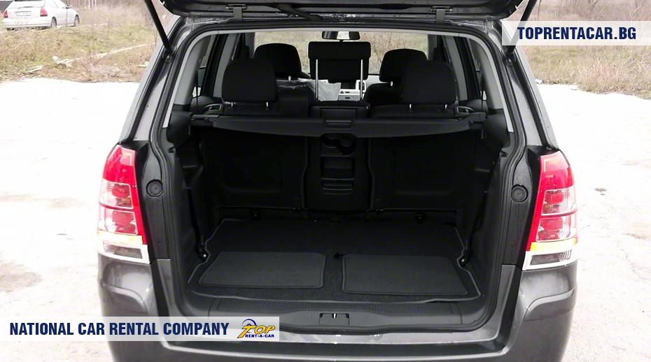 Opel Zafira - багажник