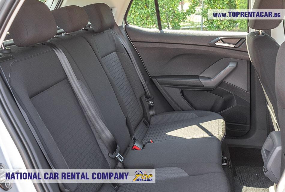 VW T-Cross задние сиденья