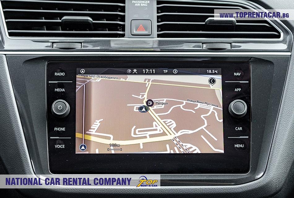 VW Tiguan со встроенной навигацией