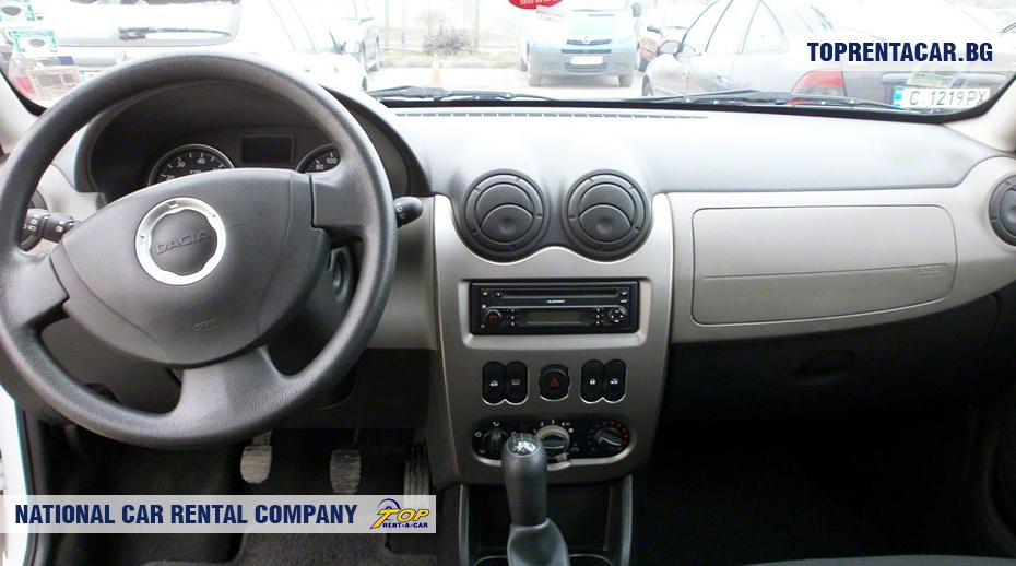 Dacia Sandero - вид изнутри