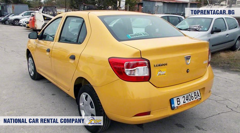 Dacia Logan - вид сзади