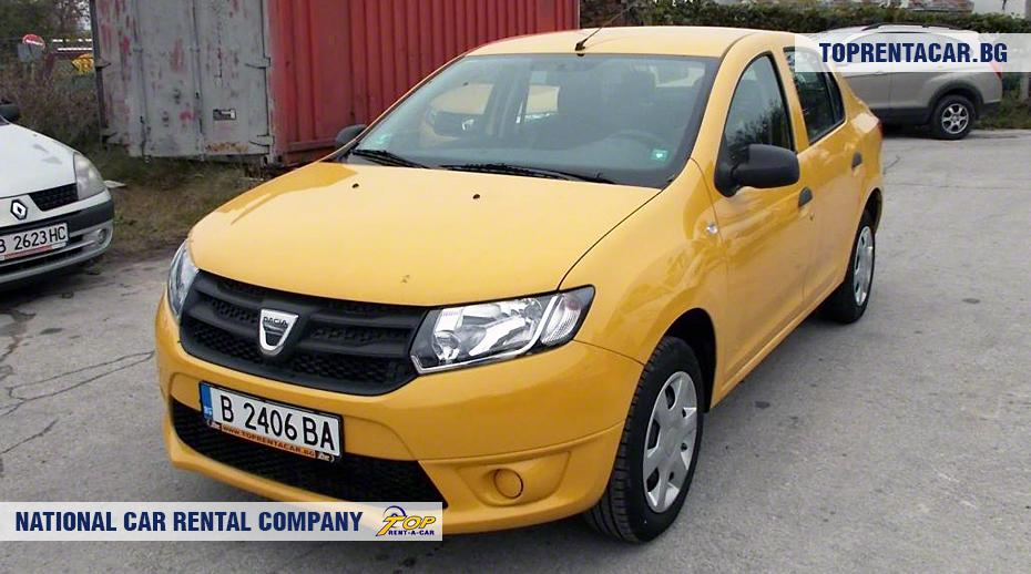 Dacia Logan - вид спереди