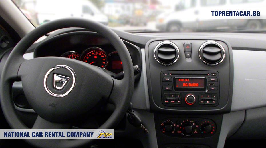 Dacia Logan - вид изнутри