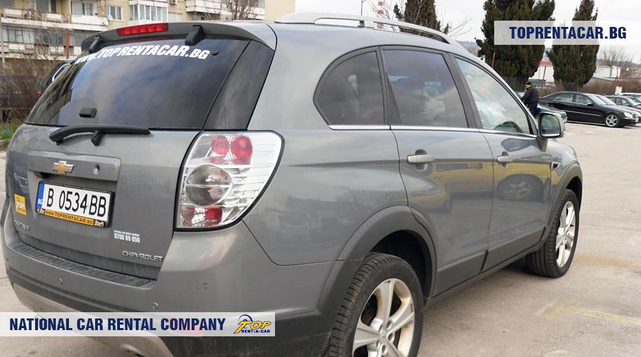 Chevrolet Captiva - вид сзади