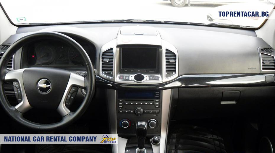 Chevrolet Captiva - вид изнутри