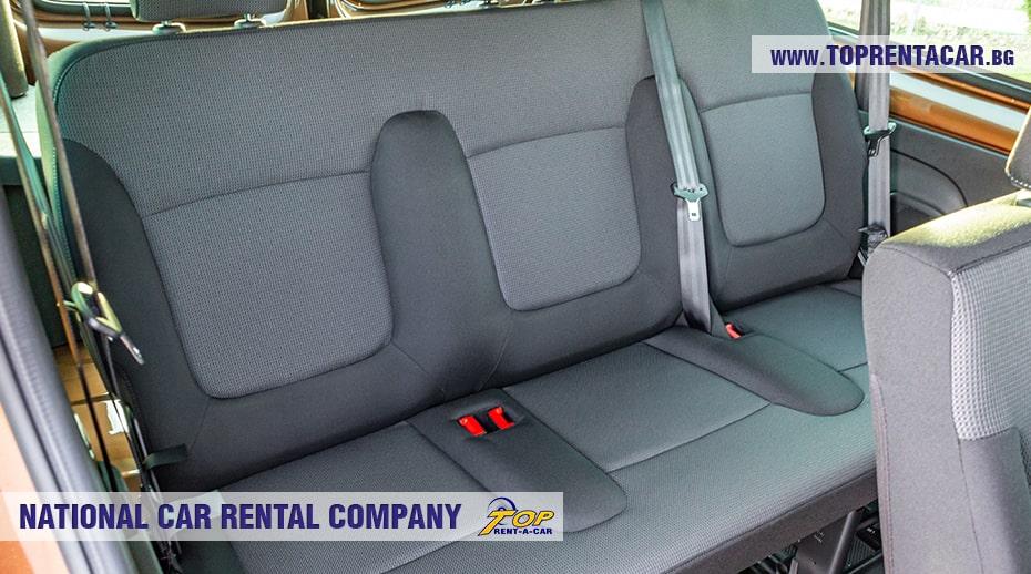 Renault Trafic - третий ряд сидений