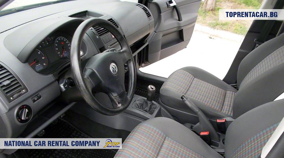 VW Polo - вид изнутри