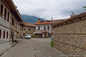 Банско старые здания и улицы