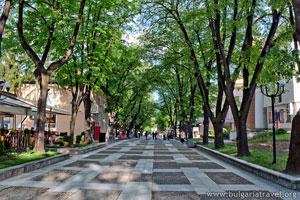 Центральная аллея в Велинграде