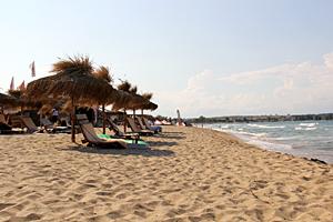 Пляж в Черноморце