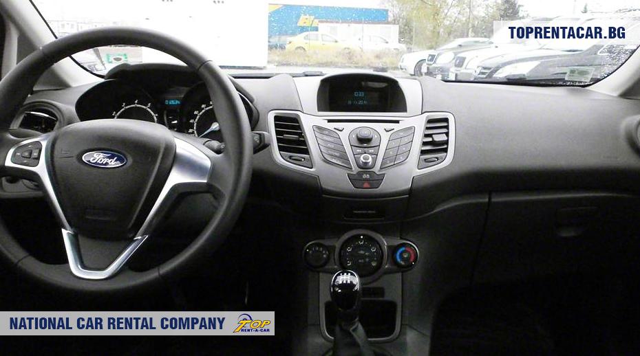 Ford Fiesta - вид изнутри